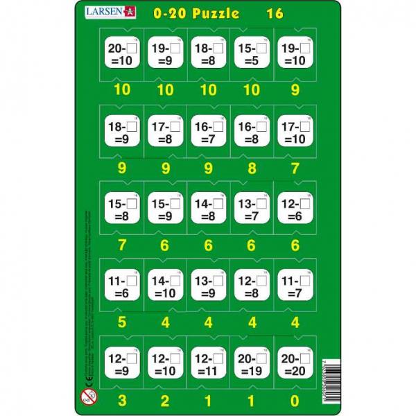Set 16 Puzzle-uri 0 - 20, 25 Piese Larsen LRP47 16