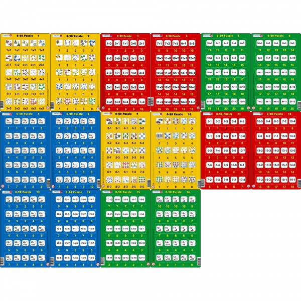Set 16 Puzzle-uri 0 - 20, 25 Piese Larsen LRP47 0