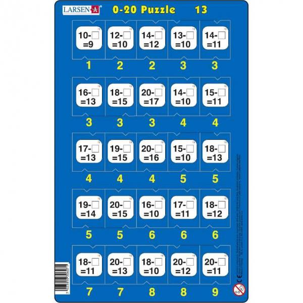 Set 16 Puzzle-uri 0 - 20, 25 Piese Larsen LRP47 13