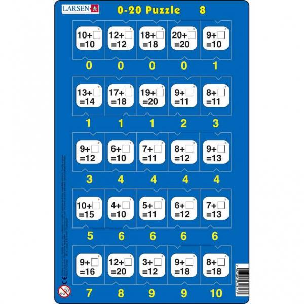 Set 16 Puzzle-uri 0 - 20, 25 Piese Larsen LRP47 8