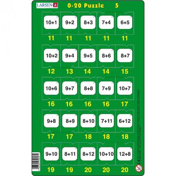 Set 16 Puzzle-uri 0 - 20, 25 Piese Larsen LRP47 5