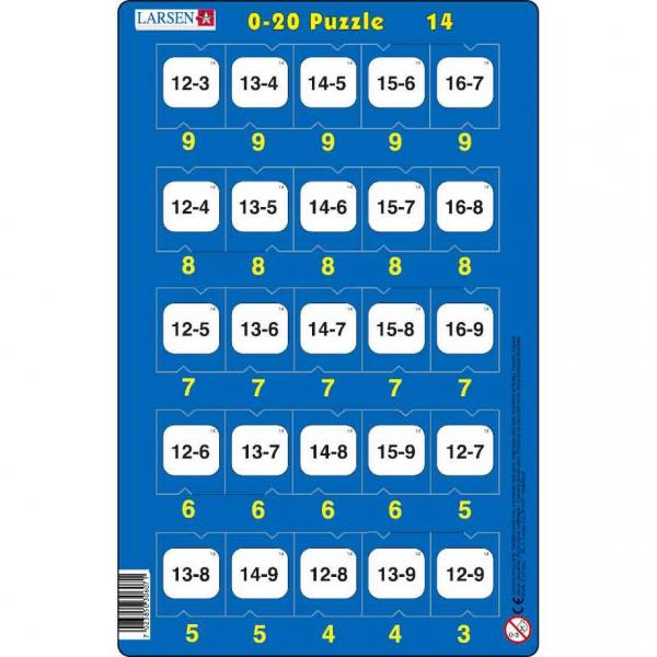 Set 16 Puzzle-uri 0 - 20, 25 Piese Larsen LRP47 14