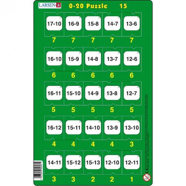 Set 16 Puzzle-uri 0 - 20, 25 Piese Larsen LRP47 15