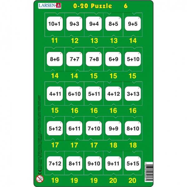 Set 16 Puzzle-uri 0 - 20, 25 Piese Larsen LRP47 6