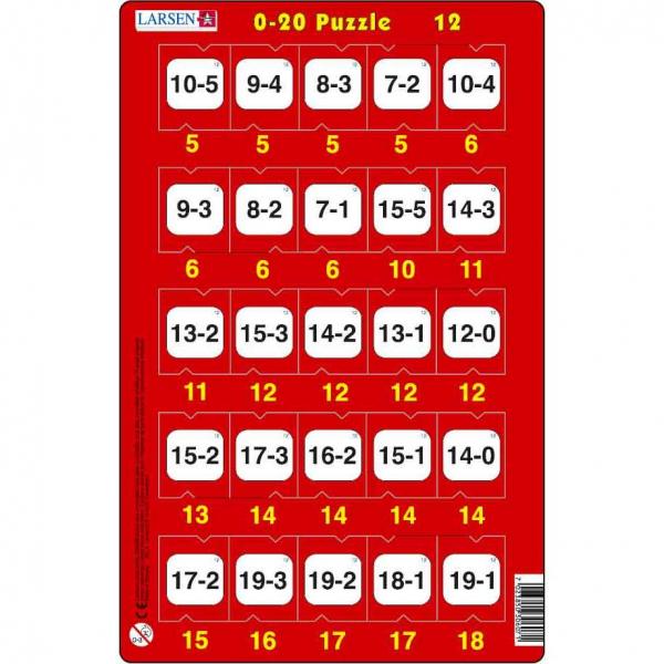 Set 16 Puzzle-uri 0 - 20, 25 Piese Larsen LRP47 12