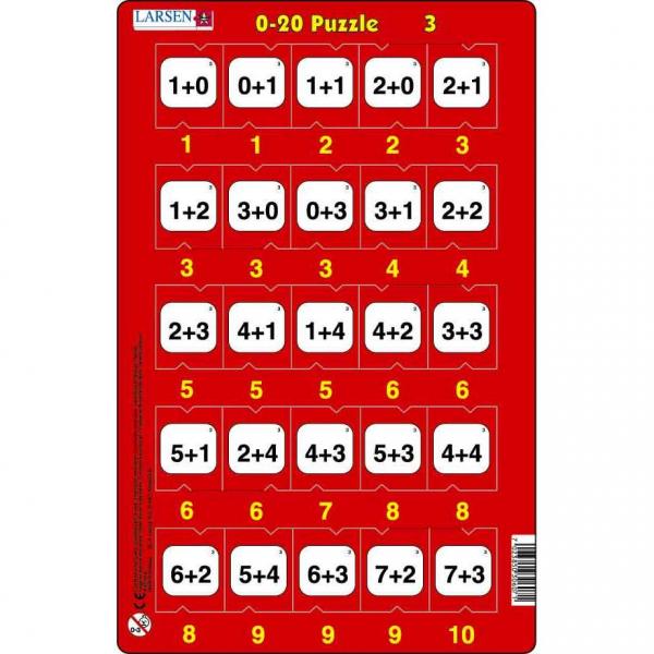 Set 16 Puzzle-uri 0 - 20, 25 Piese Larsen LRP47 3