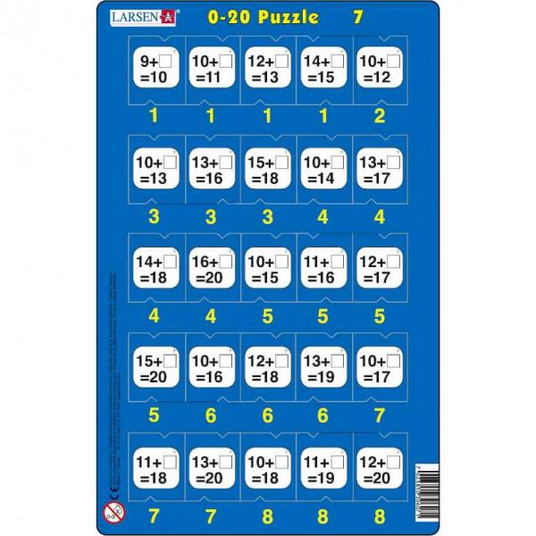 Set 16 Puzzle-uri 0 - 20, 25 Piese Larsen LRP47 7