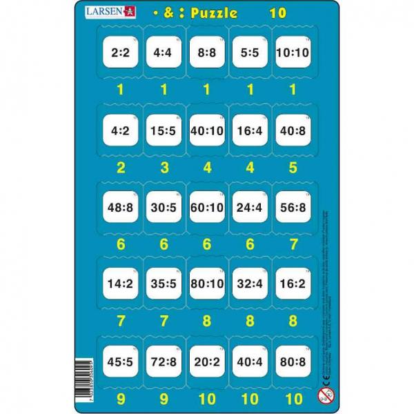 Set 16 Puzzle-uri Inmultire si Impartire, 25 Piese Larsen LRP49 10