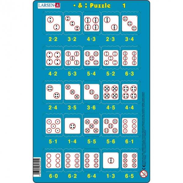 Set 16 Puzzle-uri Inmultire si Impartire, 25 Piese Larsen LRP49 1