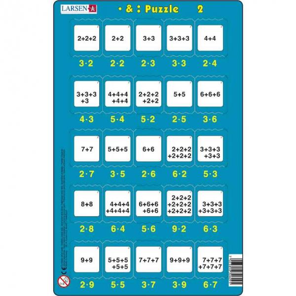 Set 16 Puzzle-uri Inmultire si Impartire, 25 Piese Larsen LRP49 2