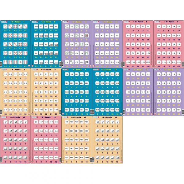 Set 16 Puzzle-uri Inmultire si Impartire, 25 Piese Larsen LRP49 0