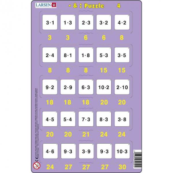 Set 16 Puzzle-uri Inmultire si Impartire, 25 Piese Larsen LRP49 4
