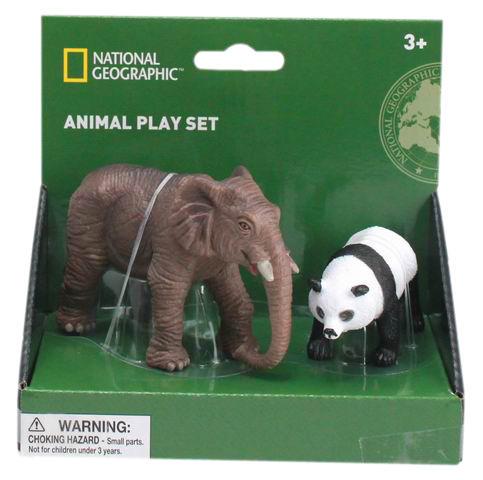 Set 2 figurine - Elefant si Urs Panda 0