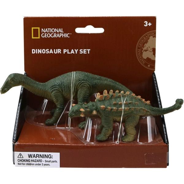 Set 2 figurine - Iguanodon si Ankylosaurus 0