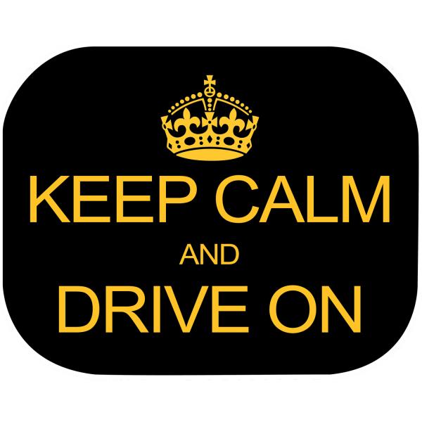 Set 2 parasolare Keep Calm and Drive On Eurasia 10940 0
