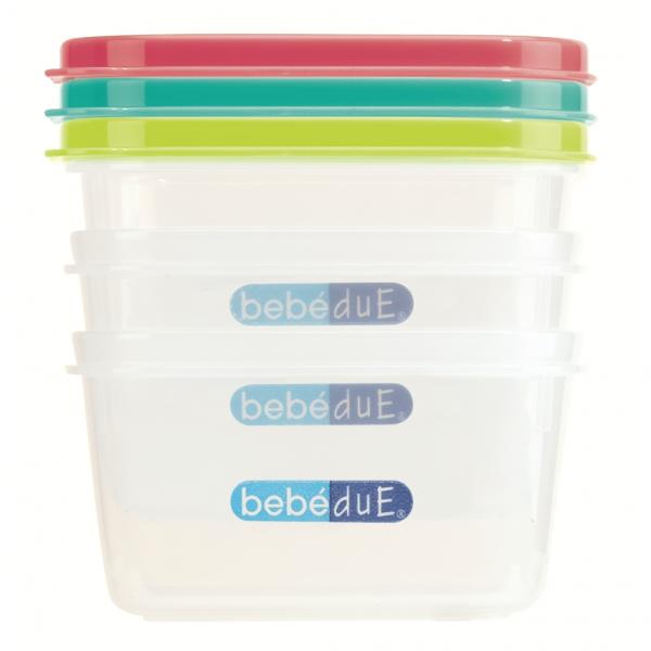 Set 3 recipiente hrana copii Colours and Flavours BebeduE 80210 1
