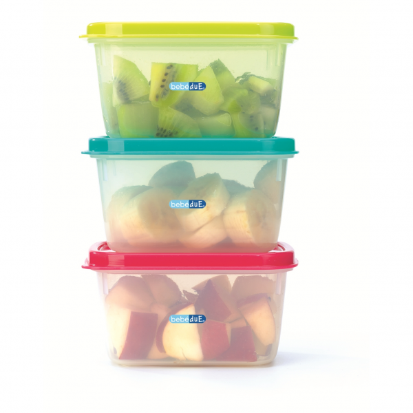 Set 3 recipiente hrana copii Colours and Flavours BebeduE 80210 0