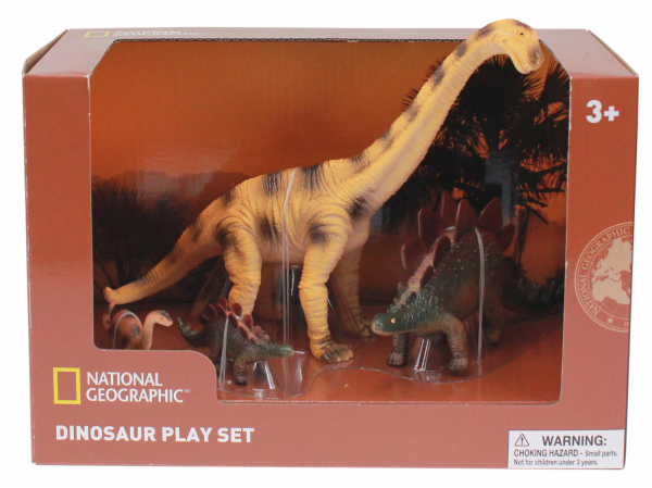 Set 4 figurine - Brachiosaurus, Stegosaurus si puii lor 0