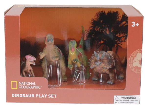 Set 4 figurine - Chasmosaurus, Guanlong, Pachycephalosaurus si T-Rex 0