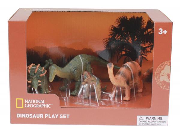 Set 4 figurine - Pachycephalosaurus, Ankylosaurus, Brachiosaurus si puiul 0