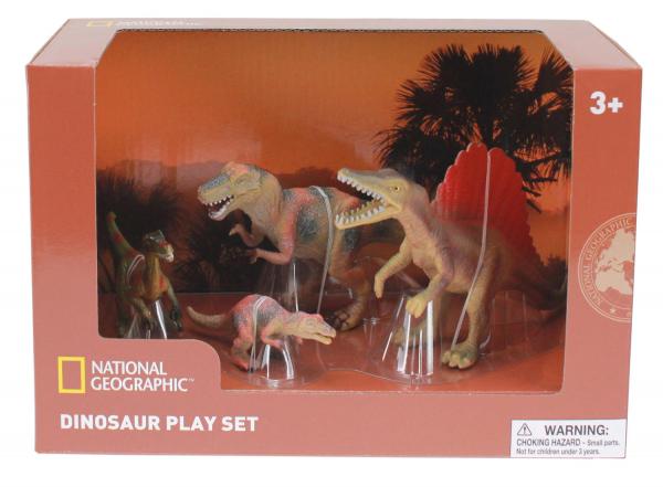 Set 4 figurine - Troodon, Spinosaurus, Tyrannosaurus si Puiul 0