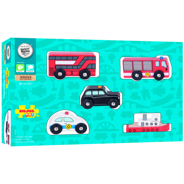 Set 5 vehicule din lemn 1