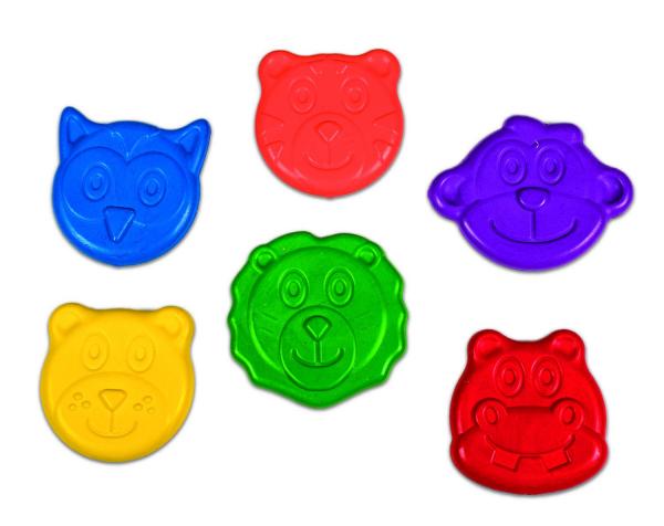 Set 6 creioane colorate - Animalute 1