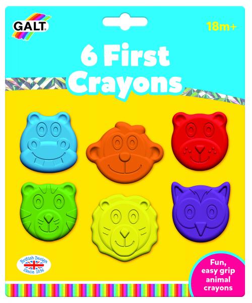 Set 6 creioane colorate - Animalute 0