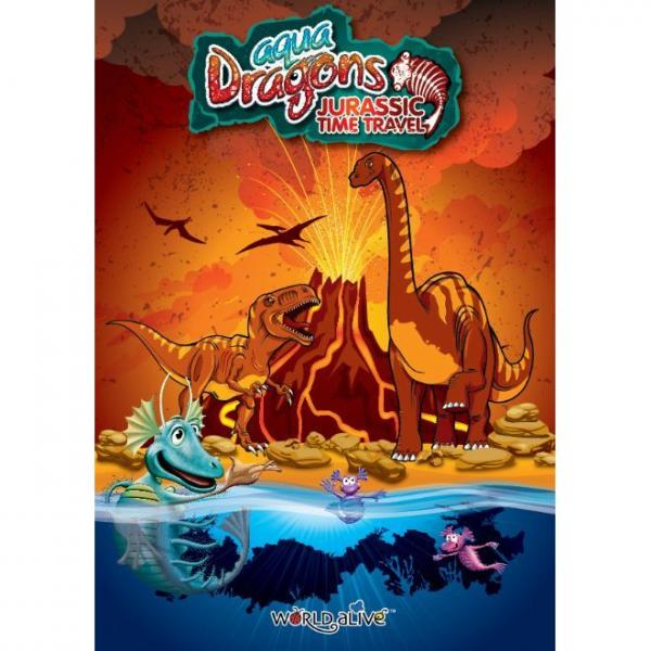 Set Acvariu Aqua Dragons Jurassic Time Travel EGGspress World Alive W4005 2