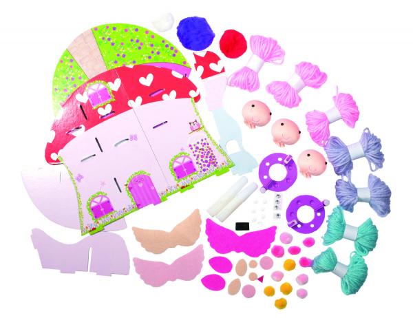 Set creativ - Fairy Pompom House 2