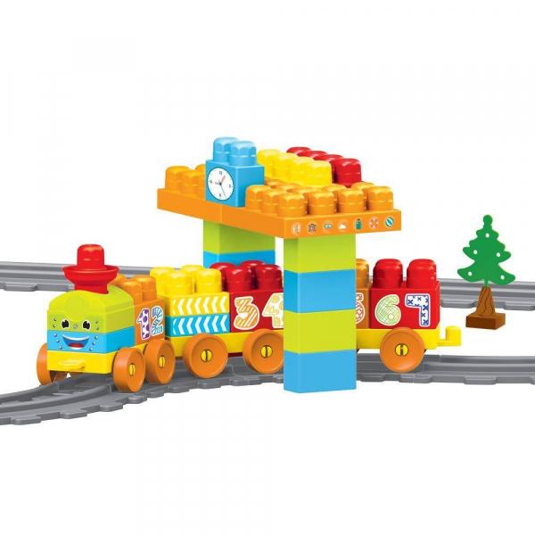 Set de constructii cu trenulet - 58 piese 0