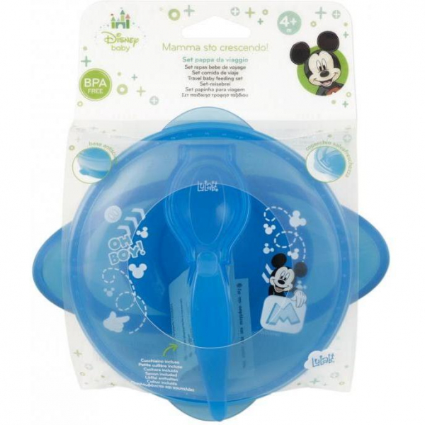 Set hranire pentru calatorii Mickey Mouse Lulabi 7966300 4