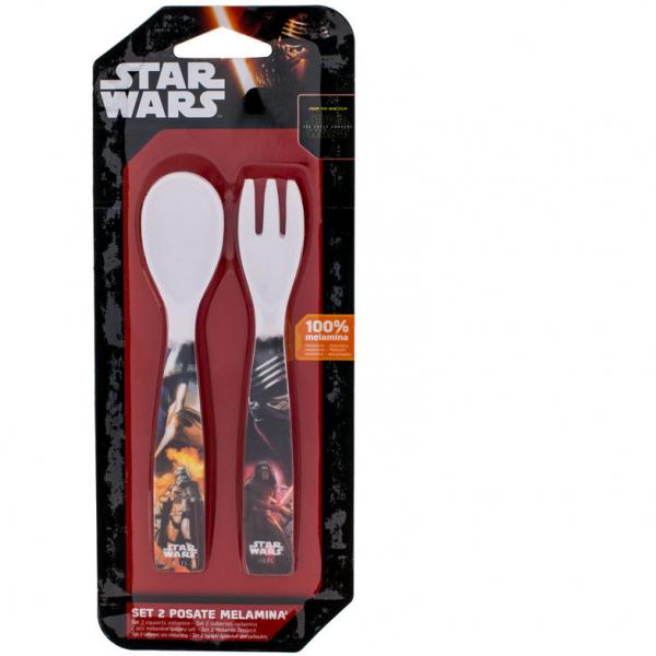 Set lingurita si furculita melamina Star Wars Lulabi 8340250 0