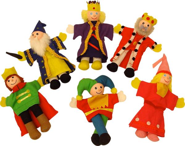 "Set papusi degetar - ,,Frumoasa din padurea adormita"" si ,,Regele Arthur"" 0"