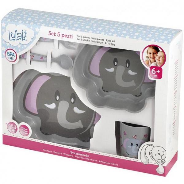 Set pentru masa 5 piese Elefant Lulabi 7972995 2