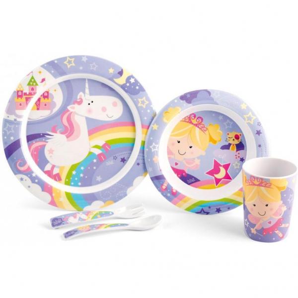 Set pentru masa melamina 5 piese Fairy Tales Lulabi 7945200 0
