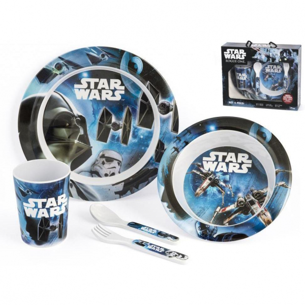 Set pentru masa melamina 5 piese Star Wars Rogue One Lulabi 8330500 1