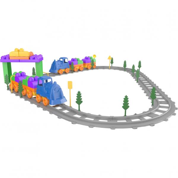 Set Tren 93 piese Magic Blocks Ucar Toys UC74 0