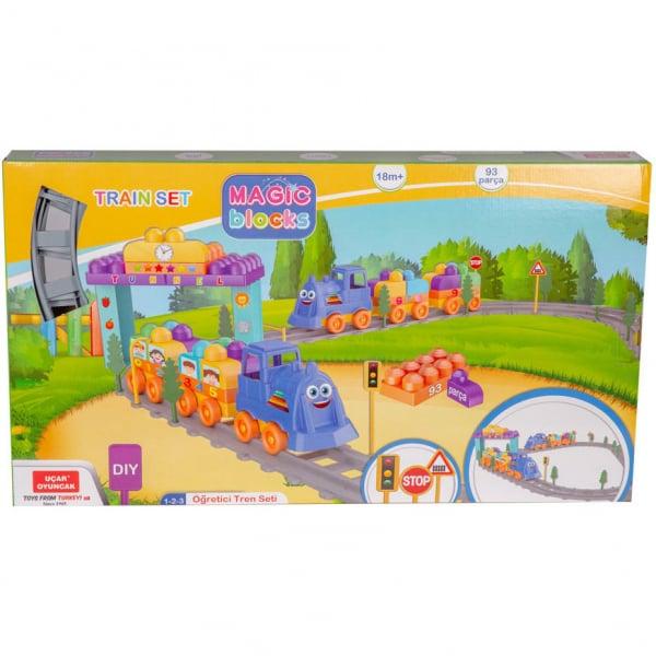 Set Tren 93 piese Magic Blocks Ucar Toys UC74 1