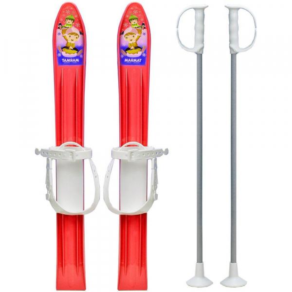 Skiuri copii 60 cm - Marmat - Rosu 0