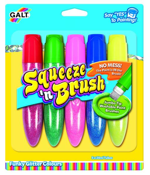 Squeeze'n Brush - 5 culori cu sclipici 0