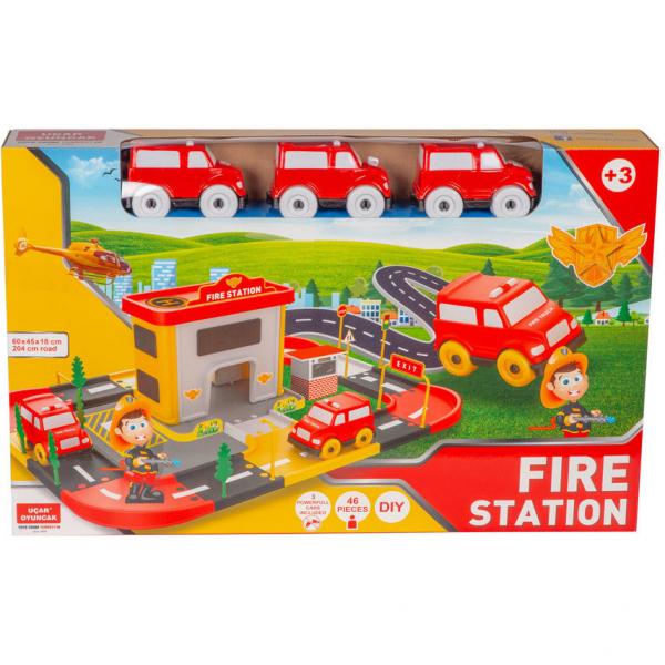 Statie pompieri 46 piese Ucar Toys UC69 1