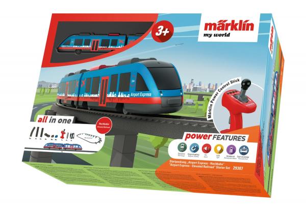 Tren de calatori cu telecomanda si accesorii Airport Express 0