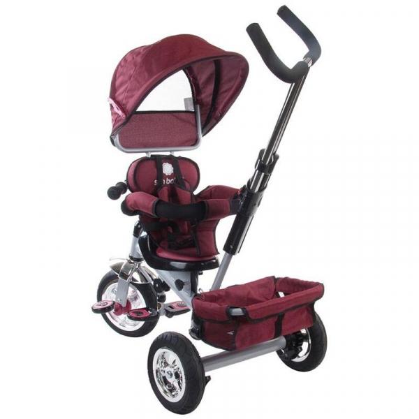 Tricicleta Confort Plus - Sun Baby - Melange Rosu [3]