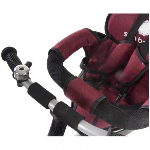 Tricicleta Confort Plus - Sun Baby - Melange Rosu [6]