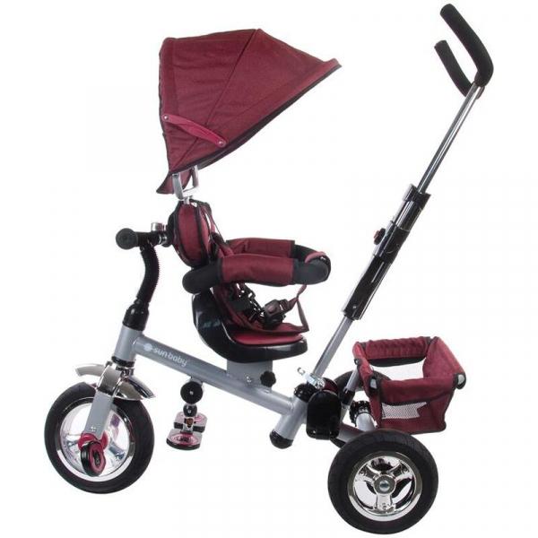 Tricicleta Confort Plus - Sun Baby - Melange Rosu [2]