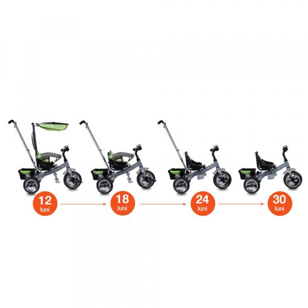 Tricicleta Lux - Sun Baby - Verde 6
