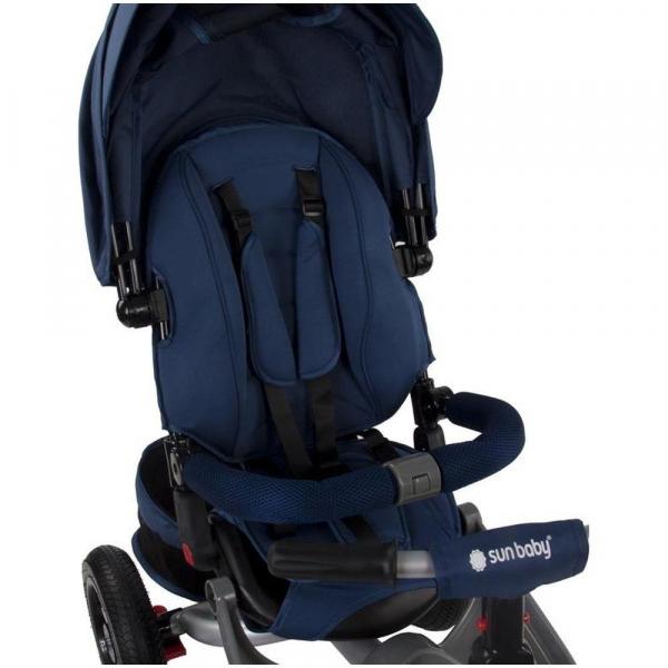 Tricicleta multifunctionala Little Tiger T400 - Sun Baby - Albastru 5