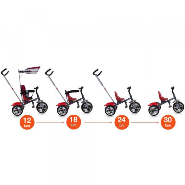 Tricicleta Super Trike - Sun Baby - Rosu 4