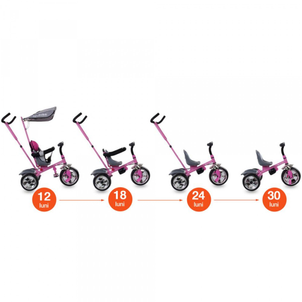 Tricicleta Super Trike - Sun Baby - Roz 5